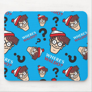 Where's Waldo Blue Pattern Mouse Pad