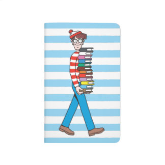 Where's Waldo Carrying Stack of Books