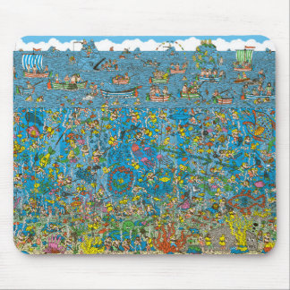 Where's Waldo Deep Sea Divers Mouse Mat