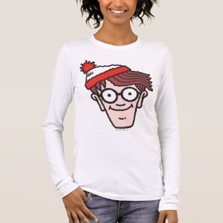 Where's Waldo Face Long Sleeve T-Shirt