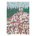 Where's Waldo | Holiday Fairies & Sledding Santas Poster