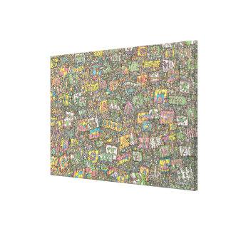 Where's Waldo | Knights of the Magic Flag Canvas Print