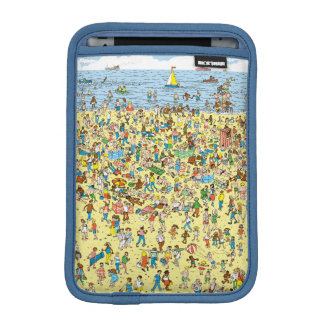 Where's Waldo on the Beach iPad Mini Sleeve