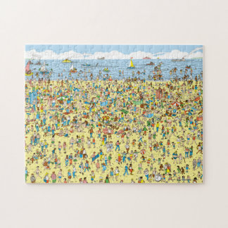 Where's Waldo on the Beach Jigsaw Puzzle