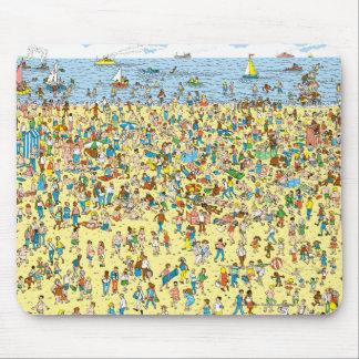 Where's Waldo on the Beach Mouse Mat