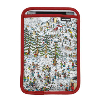 Where's Waldo Ski Slopes iPad Mini Sleeve