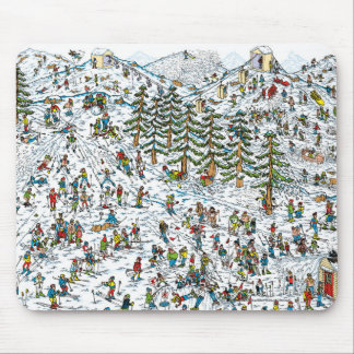 Where's Waldo Ski Slopes Mouse Mat