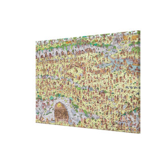 Where's Waldo | Stone Age Canvas Print