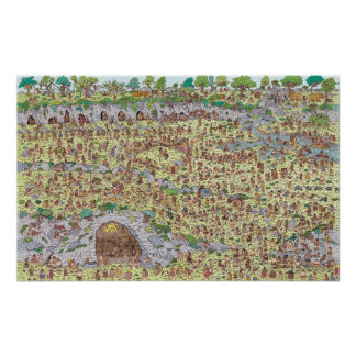 Where's Waldo | Stone Age Poster