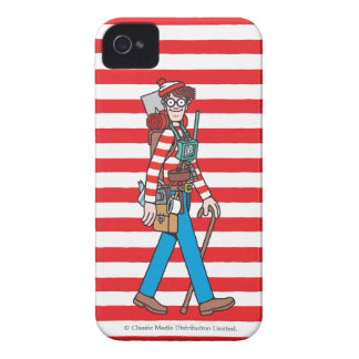 Where's Waldo with all his Equipment iPhone 4 Cover