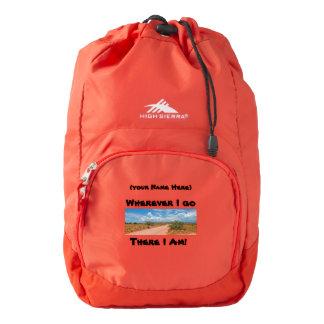 Wherever I Go, There I am. - Arizona Desert road Backpack