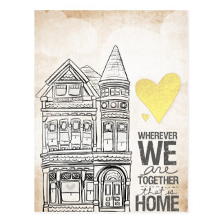 Wherever we are Together Postcard