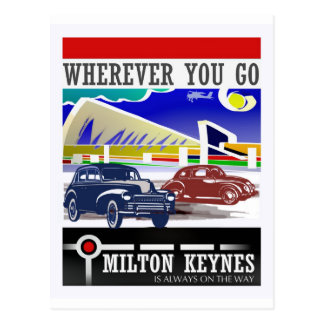 Wherever you go vintage postcard