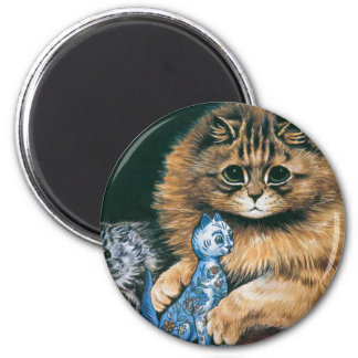 Which Do I Love Best Louis Wain Cat Artwork Magnets