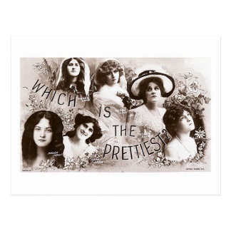 Which is the Prettiest Actress? Postcard