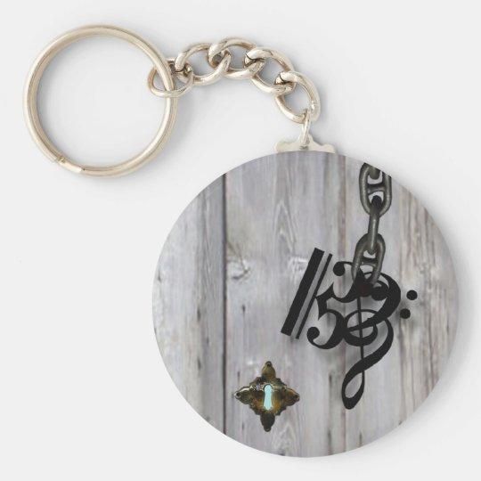 Which Key? Basic Round Button Key Ring