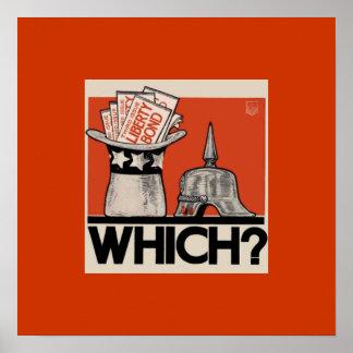Which? Liberty Bond WW1 Poster