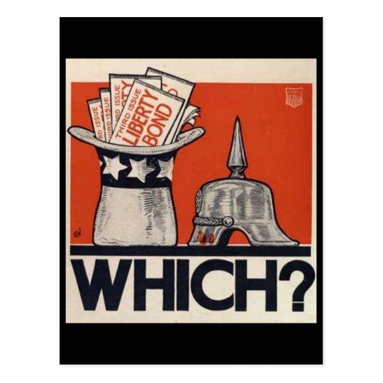 Which? Liberty Bond WW1 Vintage Postcard