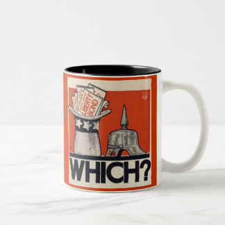 Which? Liberty Bond WW1 Vintage Two-Tone Mug