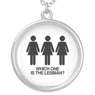 WHICH ONE IS THE LESBIAN - png Necklaces