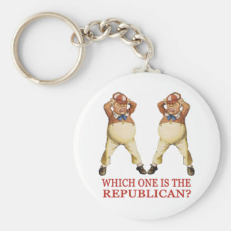 WHICH ONE IS THE REPUBLICAN? BASIC ROUND BUTTON KEY RING