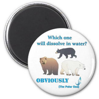 Which one will dissolve in water Polar Chemistry 6 Cm Round Magnet