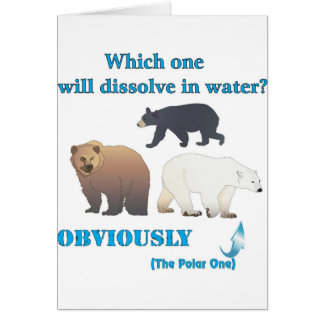 Which one will dissolve in water Polar Chemistry Card