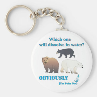 Which one will dissolve in water Polar Chemistry Key Ring