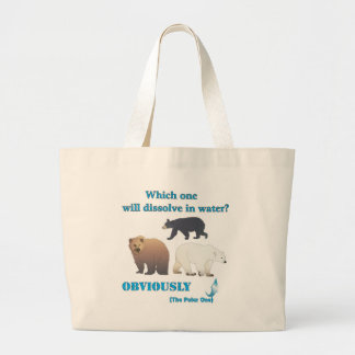 Which one will dissolve in water Polar Chemistry Large Tote Bag