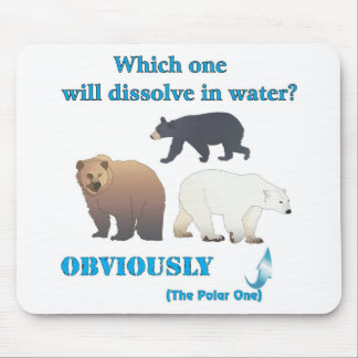 Which one will dissolve in water Polar Chemistry Mouse Pads