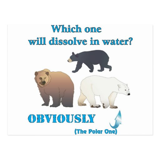 Which one will dissolve in water Polar Chemistry Postcards