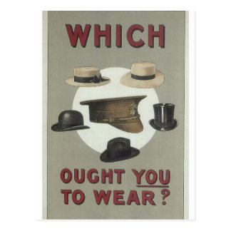 Which ought you to wear_Propaganda Poster Postcard
