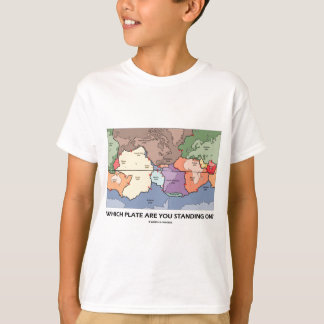 Which Plate Are You Standing On? (Plate Tectonics) T-Shirt