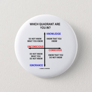 Which Quadrant Are You In? 6 Cm Round Badge