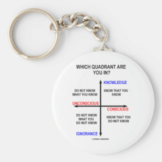 Which Quadrant Are You In? Basic Round Button Key Ring