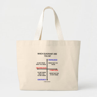 Which Quadrant Are You In? Large Tote Bag