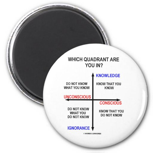 Which Quadrant Are You In? Refrigerator Magnet