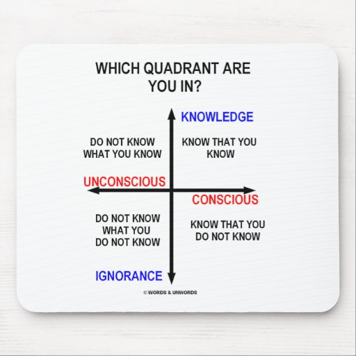 Which Quadrant Are You In? Mousepad