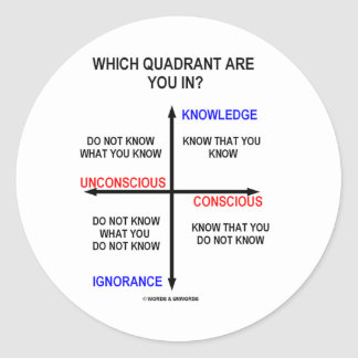 Which Quadrant Are You In? Round Sticker