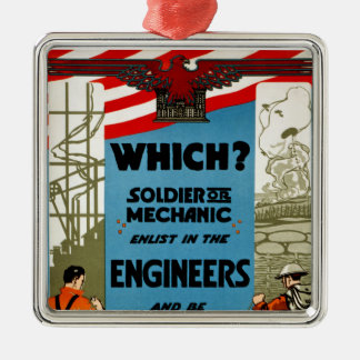 Which? Soldier or Mechanic Christmas Ornament