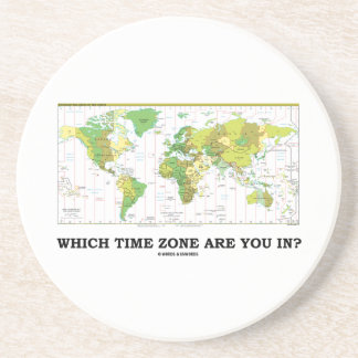 Which Time Zone Are You In? (Standard Time Zones) Coasters