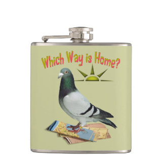 Which Way is Home? Fun Pigeon Flask