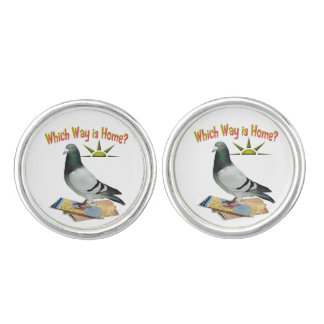 Which Way is Home Lost Pigeon Cufflinks