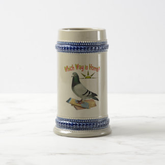 Which Way is Home? Pigeon Art Beer Steins