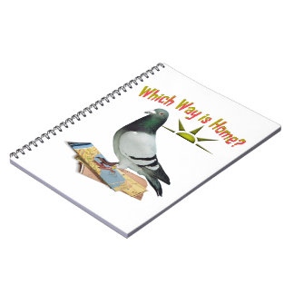Which Way is Home? Pigeon Art Spiral Note Book