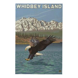 Whidbey Island, WashingtonEagle Fishing Wood Wall Decor