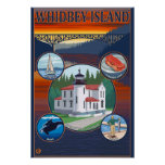 Whidbey Island, WashingtonScenic Travel Poster