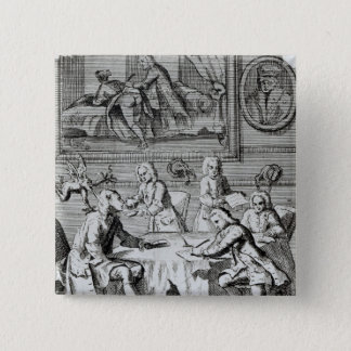 Whig Satire on Negotiations 15 Cm Square Badge