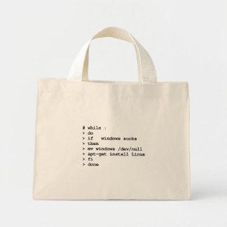 while : do (tote bag) mini tote bag