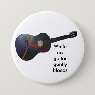 While my guitar gently bleeds 7.5 cm round badge